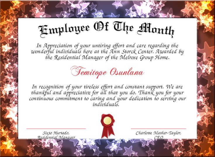 7 best Products I Love images on Pinterest Certificate templates - fresh employee of the month certificate template word