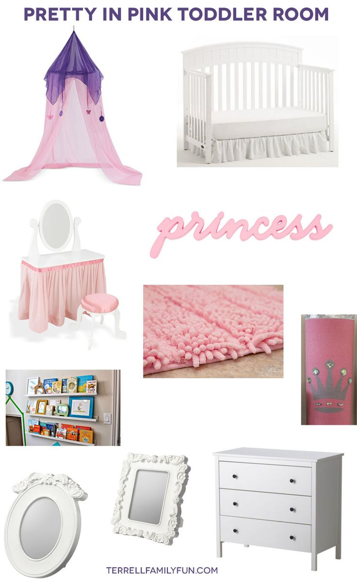 Big Girl - Pretty in Pink Toddler Room, Princess room, IKEA