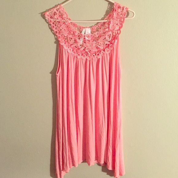 Light Pink Lace Top (1x) Pink Lace Top (1x) Never Worn. New without tags from Nordstrom Tops Blouses