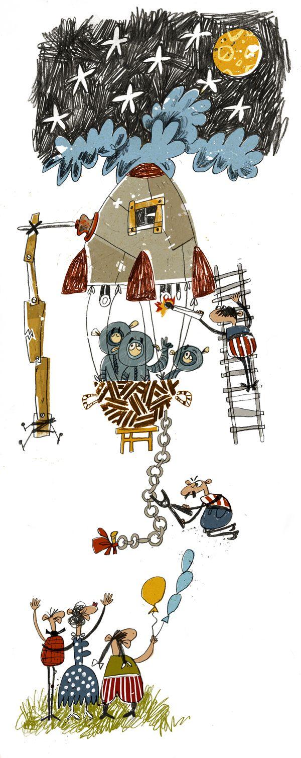 illustrations for 'seo' magazine by anastasia moshina