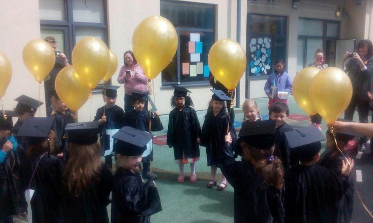 Preschoolers graduating in style! #graduation #preschool #offtobigschool