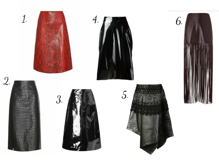 #Leather #skirt is one of the #trends of this #fall-winter #season. Moreover, facing and color are none important. It can be a really bright-colored leather or leather of cold, neutral, fall tones, real or faux, patent, minimalistic or with catchy finish- everything will be awesome. It's just depends on what #style you want to have: more a feminine style or an eccentric one.