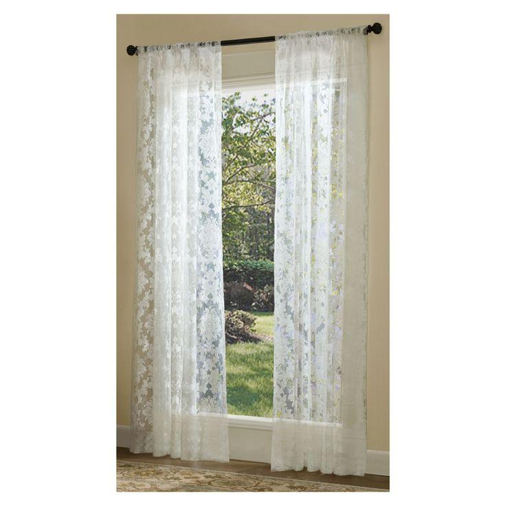 Shop Allen Roth Bristol Sheer Curtain 84 In L Solid