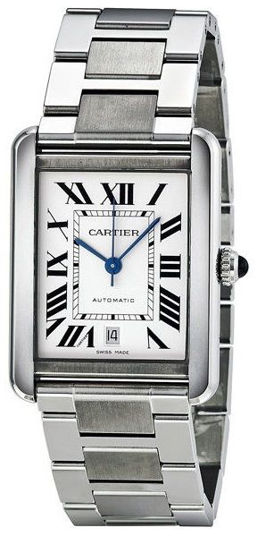 W5200028  NEW CARTIER TANK SOLO XL MENS LUXURY WATCH IN STOCK - Click to View Mother's Day Luxury Watch Sales Event   - FREE Overnight Shipping | Lowest Price Guaranteed    - No Sales Tax (Outside California)- With Manufacturer Serial Numbers- Roman Numeral Silver Opaline Dial  - Sword Shaped Blue Steel Hands - Date Feature - Crown Set with Cabochon  - Self Winding Automatic Movement- 3 Year Warranty - Guaranteed Authentic- Certificate of Authenticity - Scratch Resistant Sapphire Crystal…