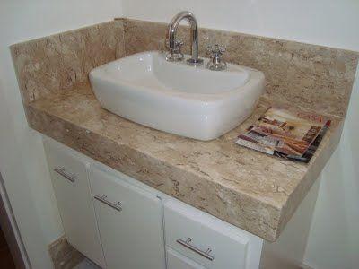 pedra de marmore para banheiro e cuba
