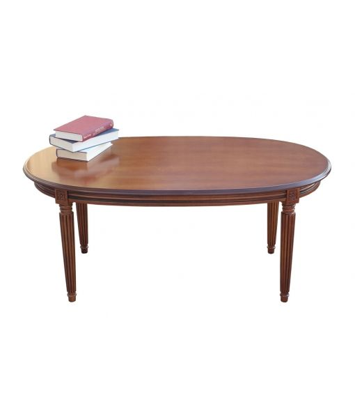 Oval coffe table in wood. Made in Italy. www.italian-style.co.uk oval coffee table empire style, empire style, coffee table, wooden coffee table, living room furniture