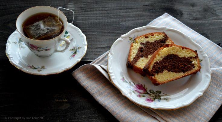 Saftig Marmorkage med mørk chokolade & vanilje