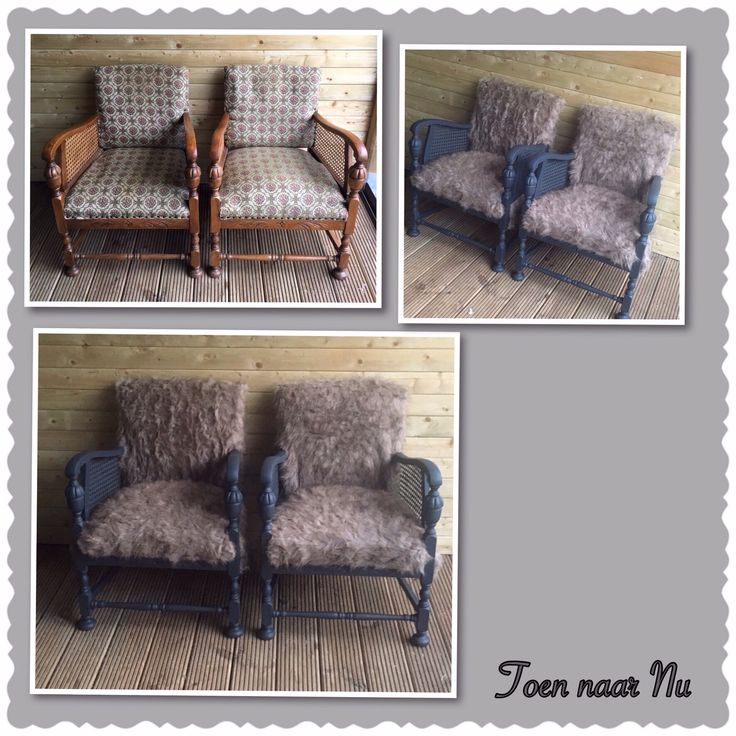 Leuke oude stoeltjes opgeknapt!! Made by toen-naar-nu