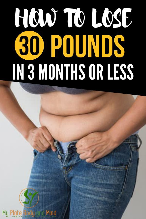 How to Lose 30 Pounds in 3 Months or Less