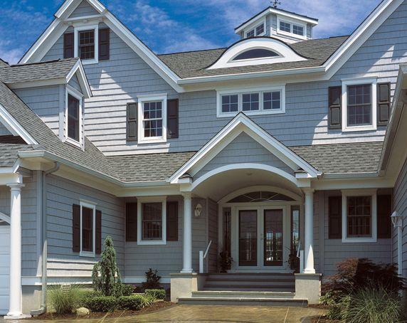 Inexpensive Unique Siding : House siding ideas stunning certainteed granite gray