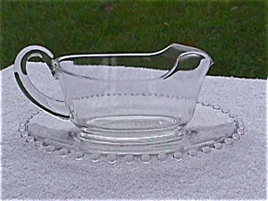 Imperial Candlewick Gravy/Sauce Boat & Underplate