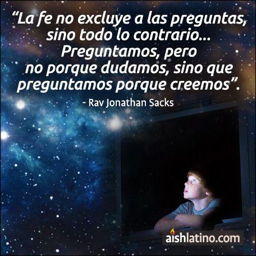 La fe no excluye a las preguntas...