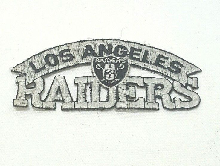 Vintage Los Angeles Raiders Patch Silver and Black with Raiders Logo Used #OaklandRaiders