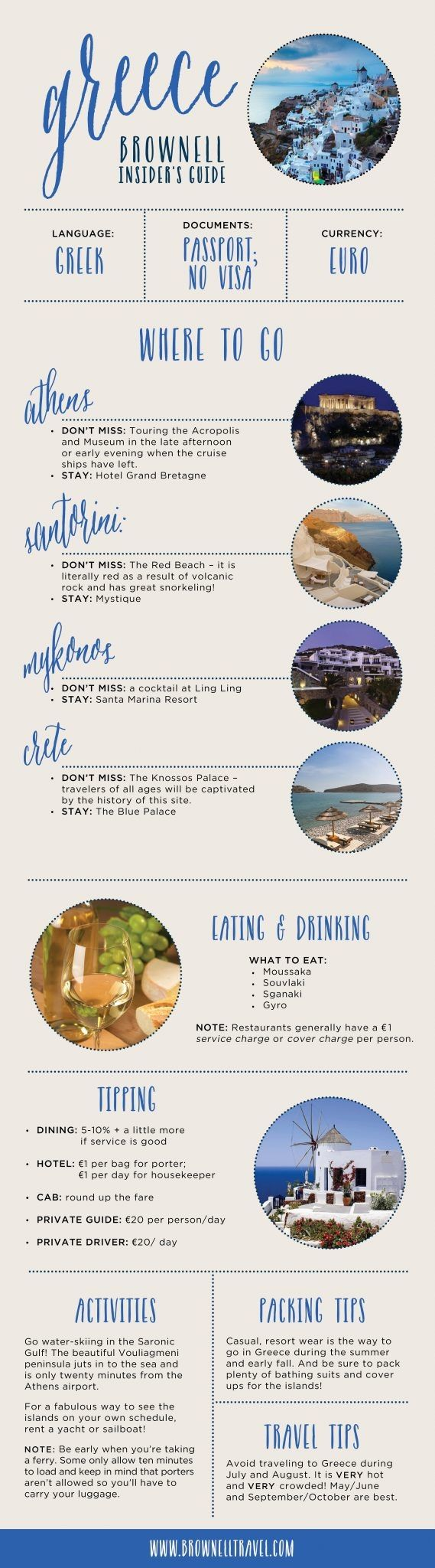 Greece Brownell Insider's Guide #Infographics