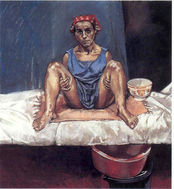 Paula Rego. Untitled No. 1, 1998. Pastel on paper mounted on aluminum, 110 x 100 cm.