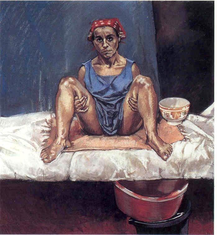 Paula Rego. Untitled No. 1, 1998. Pastel on paper mounted on aluminum, 110 x 100 cm.