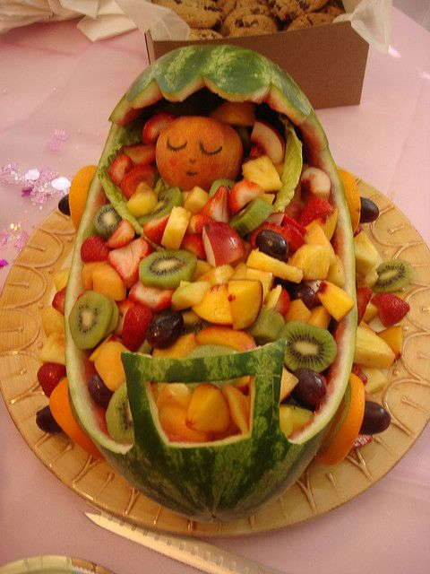 fruit trays for baby shower baby fruit carriage flickr photo