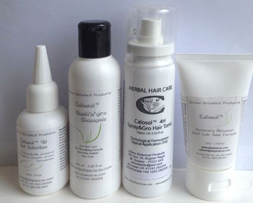 Alopecia Treatment, Hair Loss Treatment, Calosol Hair Loss Products available to buy online. Designed by Alopecians for Alopecians. All Calosol herbal and cosmetic products are manufactured in England.