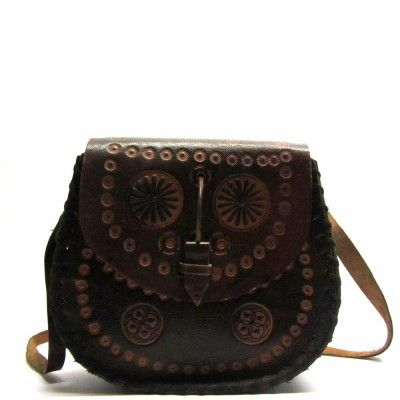 Leren gypsy vintage tas