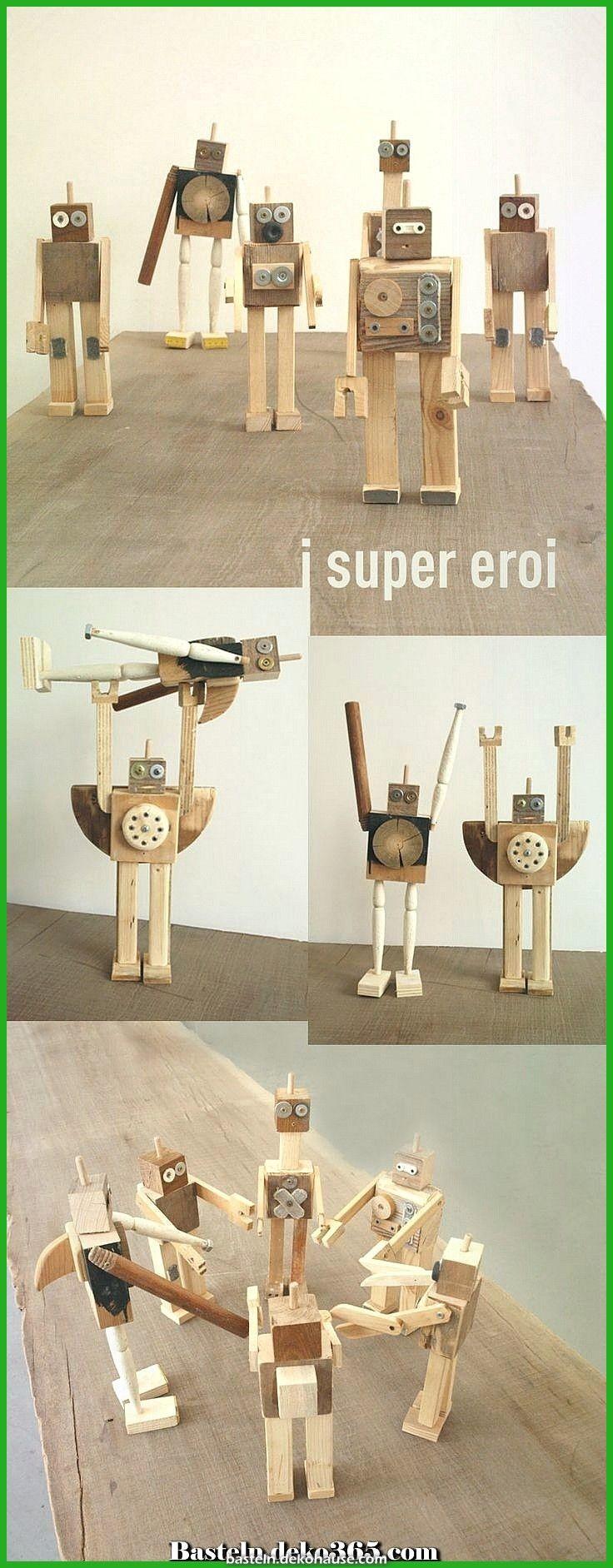 Legendär Kreative und lustige Holzspielzeugroboter …. Wer baut mit Jungs? Tri …