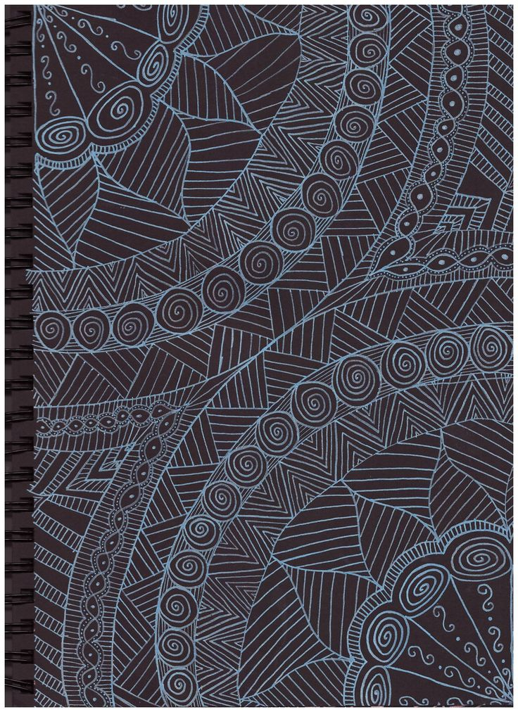 #pattern #in #black #paper #blue #posca