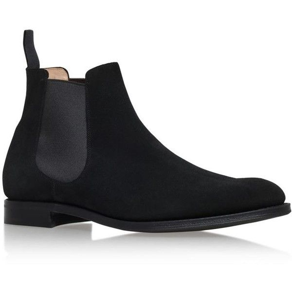 Church's Houston Suede Chelsea Boot ($495) ❤ liked on Polyvore featuring men's fashion, men's shoes, men's boots, mens suede shoes, mens suede boots and mens suede chelsea boots