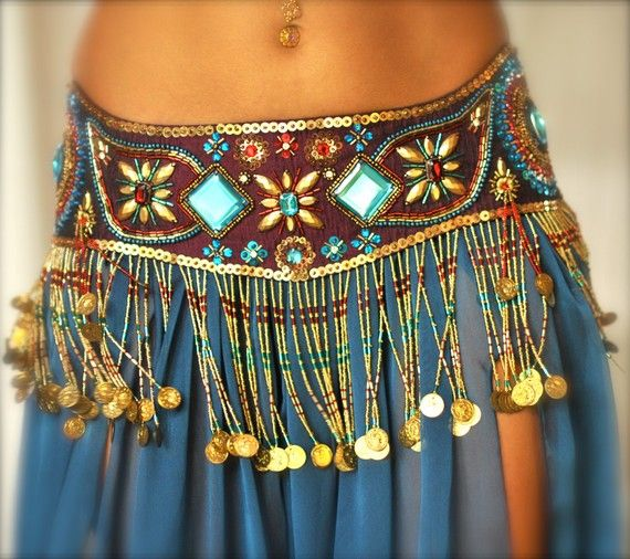 STOCK SALE Perfectly Beautiful Belly Dance belt by PoisonBabe, $100.00