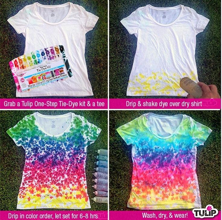 Rainbow-Drip Tie Dye Shirt for kids, teens, or adults. Make them for the family or for school groups, halloween (retro theme, ball-teams, tops to wear with scrubs for medical staff, or teams for charity events. Have a t-shirt making spring/summer event party!
