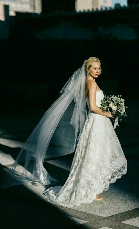 Candice Accola on her wedding day in 2014