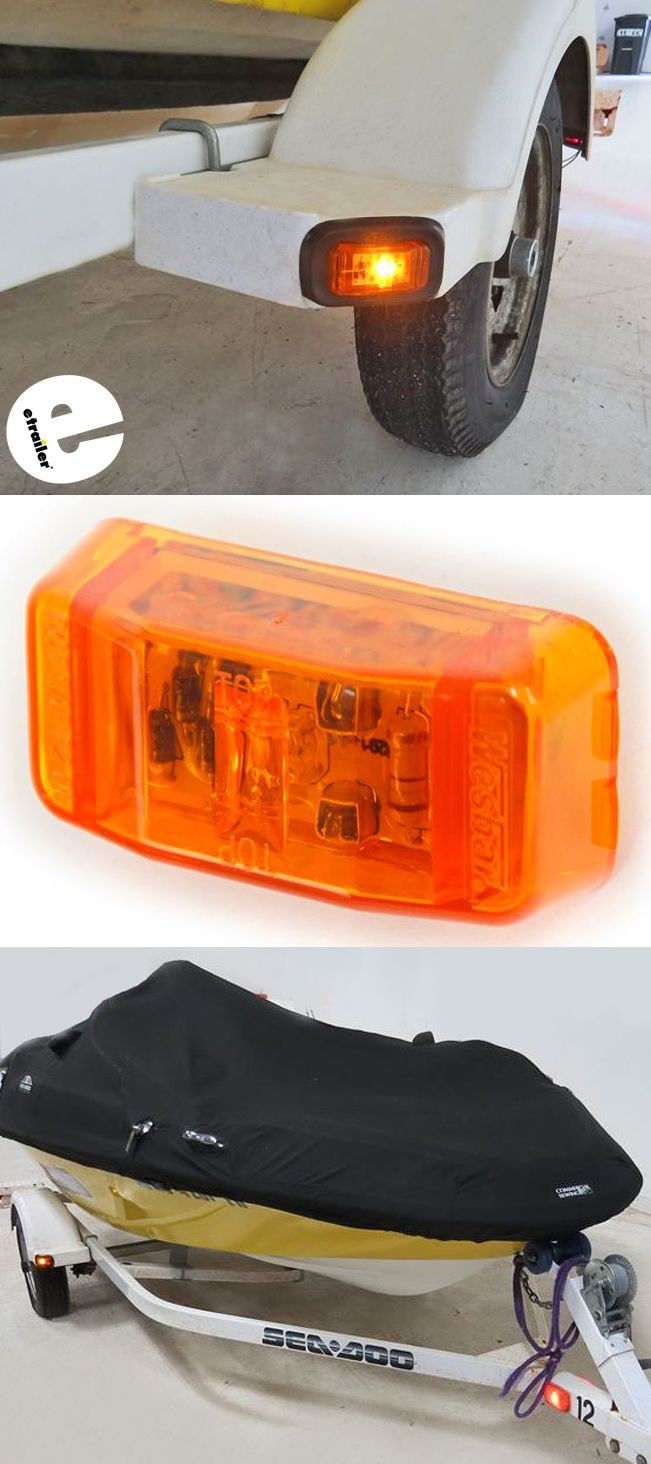 Wesbar Led Trailer Clearance Or Side Marker Light Submersible 1 Diode Rectangle Amber Lens W Boat Accessories Led Trailer Lights Submersible