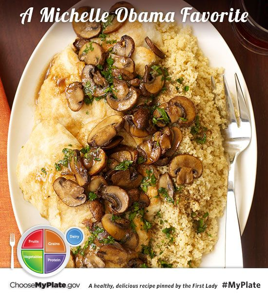 Chicken Scaloppine al Marsala #Letsmove #MyPlate #Chicken