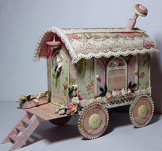 Adorable miniature gypsy caravan
