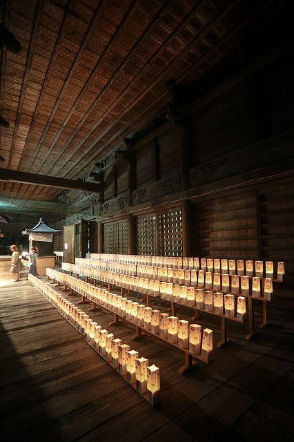 Preparing for Tonsha-e Buddhist memorial service at Honmyo-ji temple, Kumamoto…