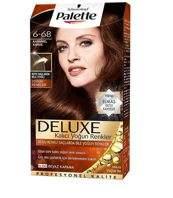 Palette Deluxe 6 68 Karamel Kahve Sac Boyasi 2020 Sac Boyasi