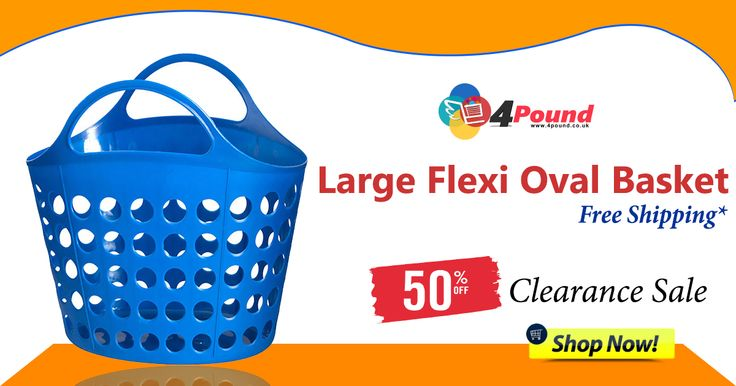 Large Flexi Oval Basket available at #4pound store.Buy and get 50% Discount