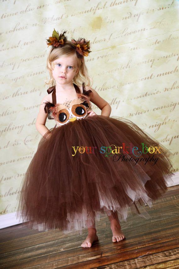 Owl tutu dress and matching headband