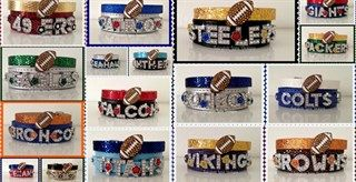 $11.99 - Football Team Spirit Sparkle Charm Bracelets! - http://www.pinchingyourpennies.com/11-99-football-team-spirit-sparkle-charm-bracelets/ #Footballbracelets, #Jane, #Pinchingyourpennies