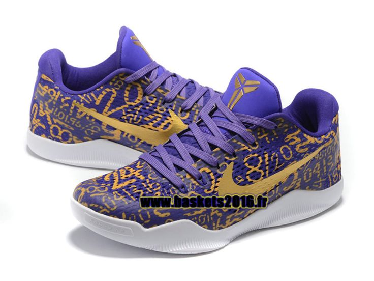 Nike Kobe 11 Elite Low Chaussures Nike Baskets 2016 Pas Cher Pour Homme Jaune / Violet
