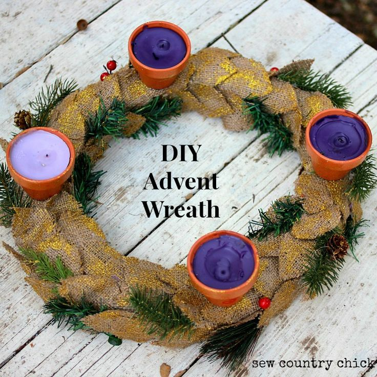 Make a pretty advent wreath