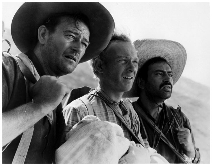 Harry Carey, Jr. (center) 1921-2012  from 3 Godfathers (1948, dir. John Ford)