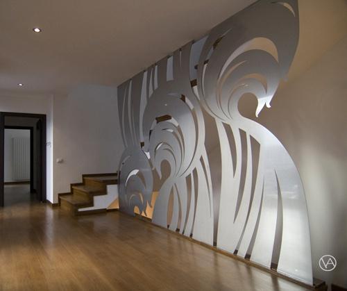 stainless steel decorative piece, perete decorativ inox by ioana andrei, via Behance