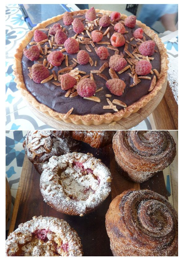 Some of the fabulous pastries at King Arthur Cafe. They do breakfast too! * Read about it at TIFFIN - bite sized food adventures -