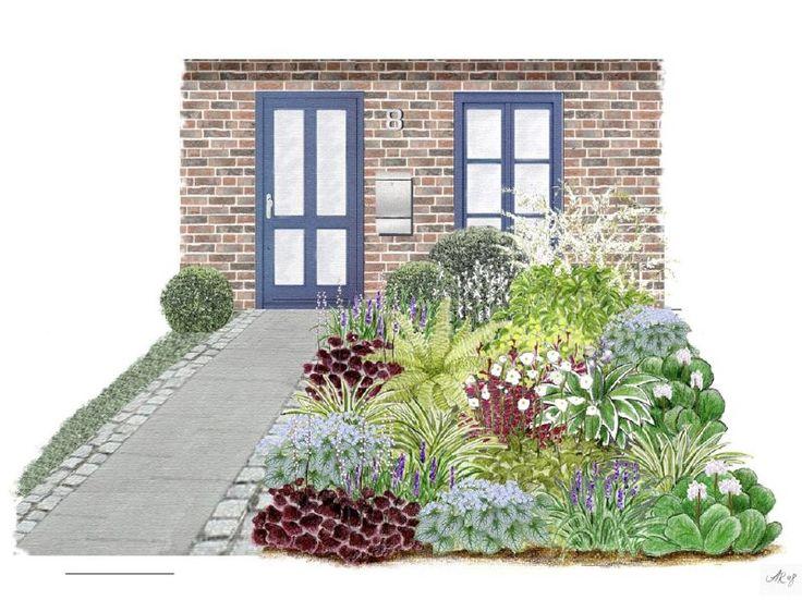 Pinterestu0027teki 25u0027den fazla en iyi Vorgartengestaltung fikri - vorgarten pflegeleichte bepflanzung
