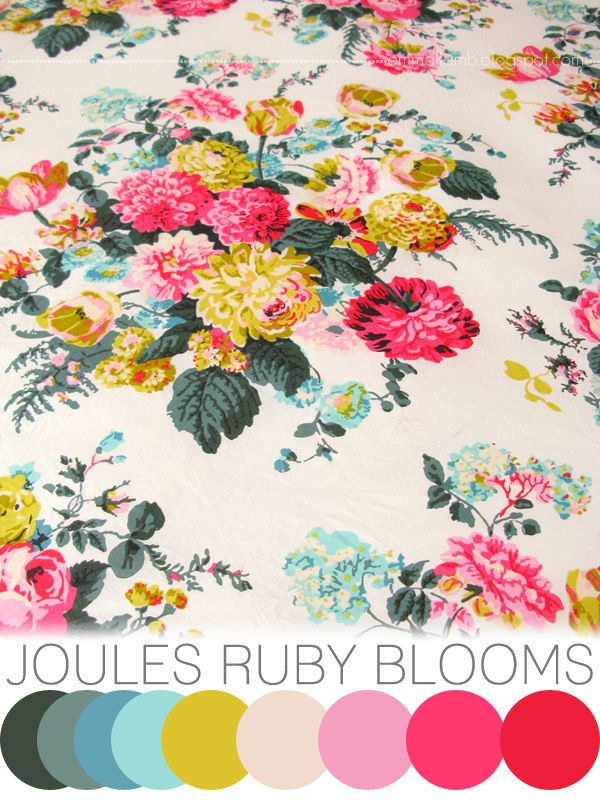 colour crush : Joules Ruby blooms - emma lamb