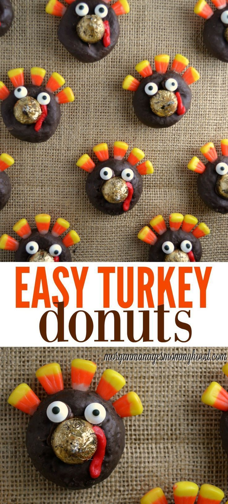 Easy Turkey Donuts 98 best Thanksgiving images