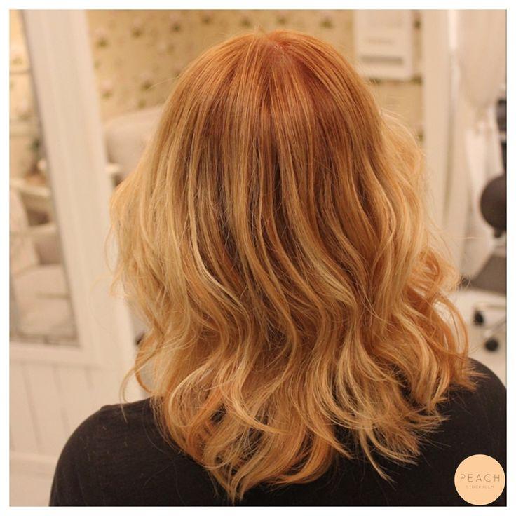 Kopprig hårfärg