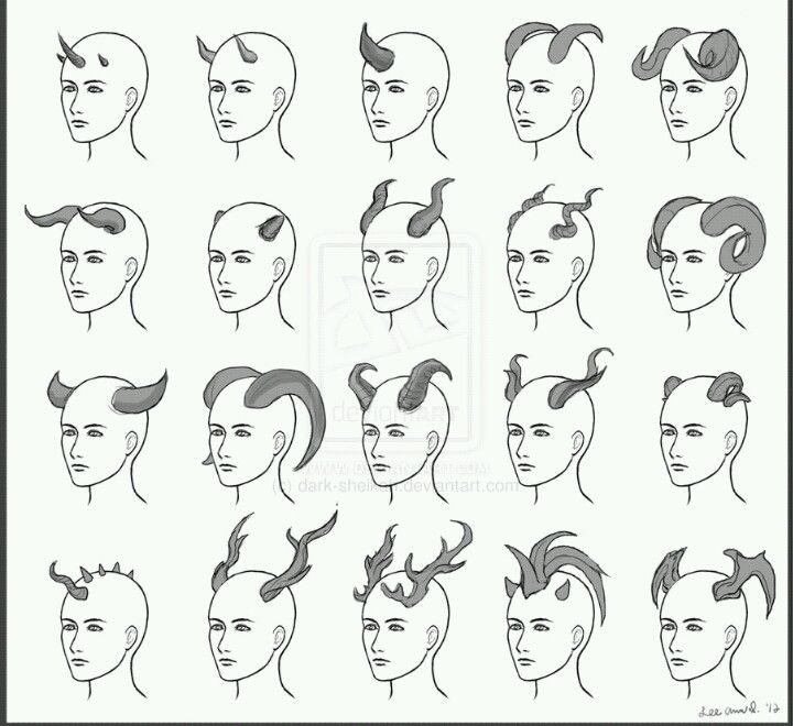 How to draw horns