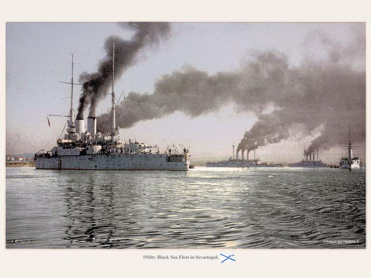 Imperial Russian Black Sea Fleet, Sevastopol, Crimea, 1910s. (黒海艦隊(1910年代, 黒海)