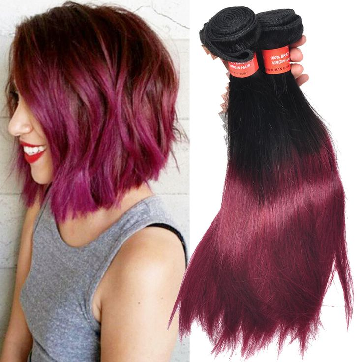 1263 best high quality human hair extension images on pinterest details zu echthaar straight human hair extensions burgundy ombre 50gbundles 6a hair weave pmusecretfo Choice Image