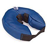 Total Pet Health Inflatable Dog Collars - Veterinarian-Approved Collars Designed to Prevent Pets from Scratching and Biting at Injuries, Stitches, Rashes, and Wounds - Medium, Blue